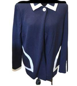 St John 1 button wool blend cardigan/poncho